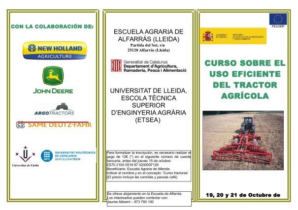 CURS ÚS EFICIENT TRACTOR AGRÍCOLA