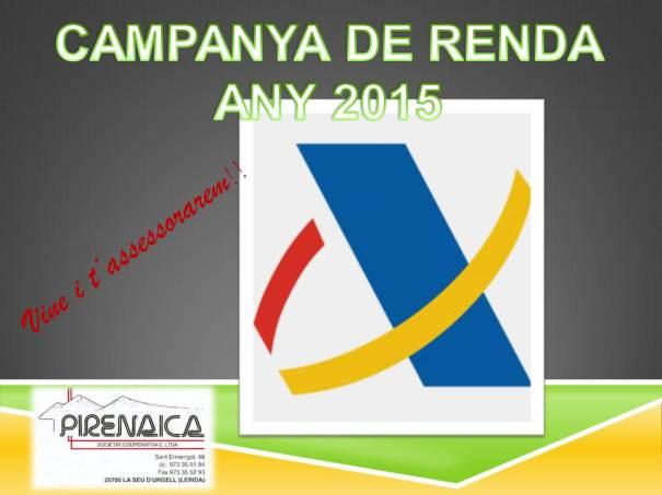 campanya renda 2015